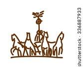 brandenburg gate logo design....   Shutterstock .eps vector #336887933