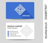 corporate business card with... | Shutterstock . vector #336887987