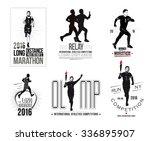 set athletics logo and emblem.... | Shutterstock .eps vector #336895907