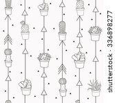 Cute Grey Seamless Pattern Wit...