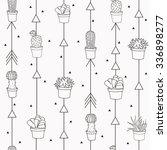 Cute Grey Seamless Pattern Wit...