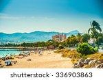 view of the beach of palma de... | Shutterstock . vector #336903863