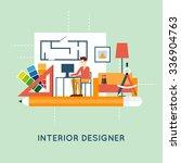 interior designer. flat design...   Shutterstock .eps vector #336904763