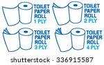 rolls of toilet paper  1  2  3... | Shutterstock .eps vector #336915587