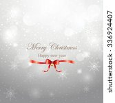 merry christmas greeting on... | Shutterstock .eps vector #336924407