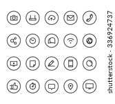 different line style icons on... | Shutterstock .eps vector #336924737