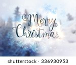stylish text merry christmas on ... | Shutterstock .eps vector #336930953