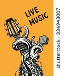 Live Music. Rock Poster With A...