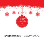 christmas background with...   Shutterstock .eps vector #336943973