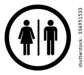 Toilets Vector Icon. Style Is...