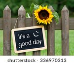 it's a good day   chalkboard... | Shutterstock . vector #336970313