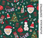 christmas pattern. new year... | Shutterstock .eps vector #336989963