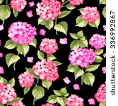 flower pattern of hydrangea... | Shutterstock .eps vector #336992867