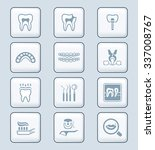 dental care tools and... | Shutterstock .eps vector #337008767