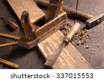 old chisel and planer in a...