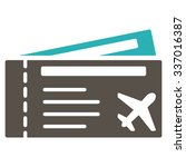 air tickets vector icon. style... | Shutterstock .eps vector #337016387