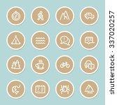 travel web icons set | Shutterstock .eps vector #337020257