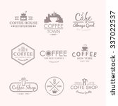 beautiful set of labels for... | Shutterstock . vector #337022537