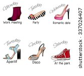 fashion illustration   days of... | Shutterstock . vector #337026407