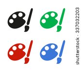 paint brush   color vector icon