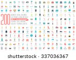 flat collection set icons of... | Shutterstock .eps vector #337036367