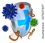 antibacterial or anti virus... | Shutterstock .eps vector #337037447