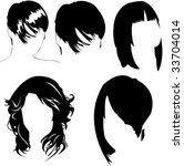 vector collection of women's...   Shutterstock .eps vector #33704014
