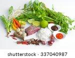 vietnam pho noodle soup... | Shutterstock . vector #337040987