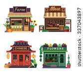 set of nice shops. different... | Shutterstock .eps vector #337043897