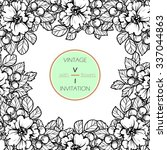 vintage delicate invitation... | Shutterstock .eps vector #337044863