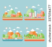 ecology city scenery concept in ... | Shutterstock . vector #337056677