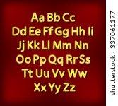 retro lightbulb alphabet... | Shutterstock . vector #337061177