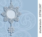 elegant lace pendant on... | Shutterstock .eps vector #337061387