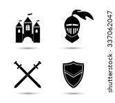 medieval black icons set... | Shutterstock .eps vector #337062047