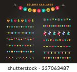 garland   patterns  brushes ... | Shutterstock .eps vector #337063487
