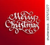 vector calligraphic label... | Shutterstock .eps vector #337072277