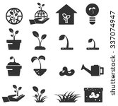 sprout icon set  symbols vector  | Shutterstock .eps vector #337074947