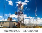 telecommunication towers at a... | Shutterstock . vector #337082093