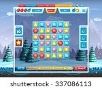merry christmas game user... | Shutterstock .eps vector #337086113