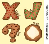 set of cookie buttons....