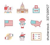 elections  campaign and voting... | Shutterstock .eps vector #337100927