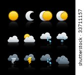 weather and climate icon set...