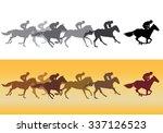 horse racing. jockeys on horses ... | Shutterstock . vector #337126523
