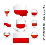 poland flag collection. vector... | Shutterstock .eps vector #337126757