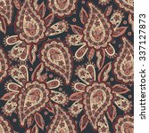 paisley seamless pattern.... | Shutterstock .eps vector #337127873