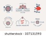 asian food logo templates set.... | Shutterstock .eps vector #337131593