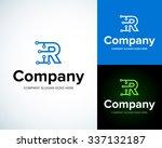 modern stylish logo with letter ... | Shutterstock .eps vector #337132187