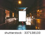 mockup of blank light box on... | Shutterstock . vector #337138133