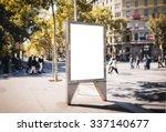 mock up of blank advertising... | Shutterstock . vector #337140677