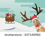 Christmas Reindeer Red Nose An...